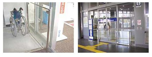 自動ドア用防護柵施工事例